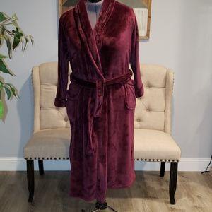Carole Hochman 2XL Purple Plum Plush Wrap Robe